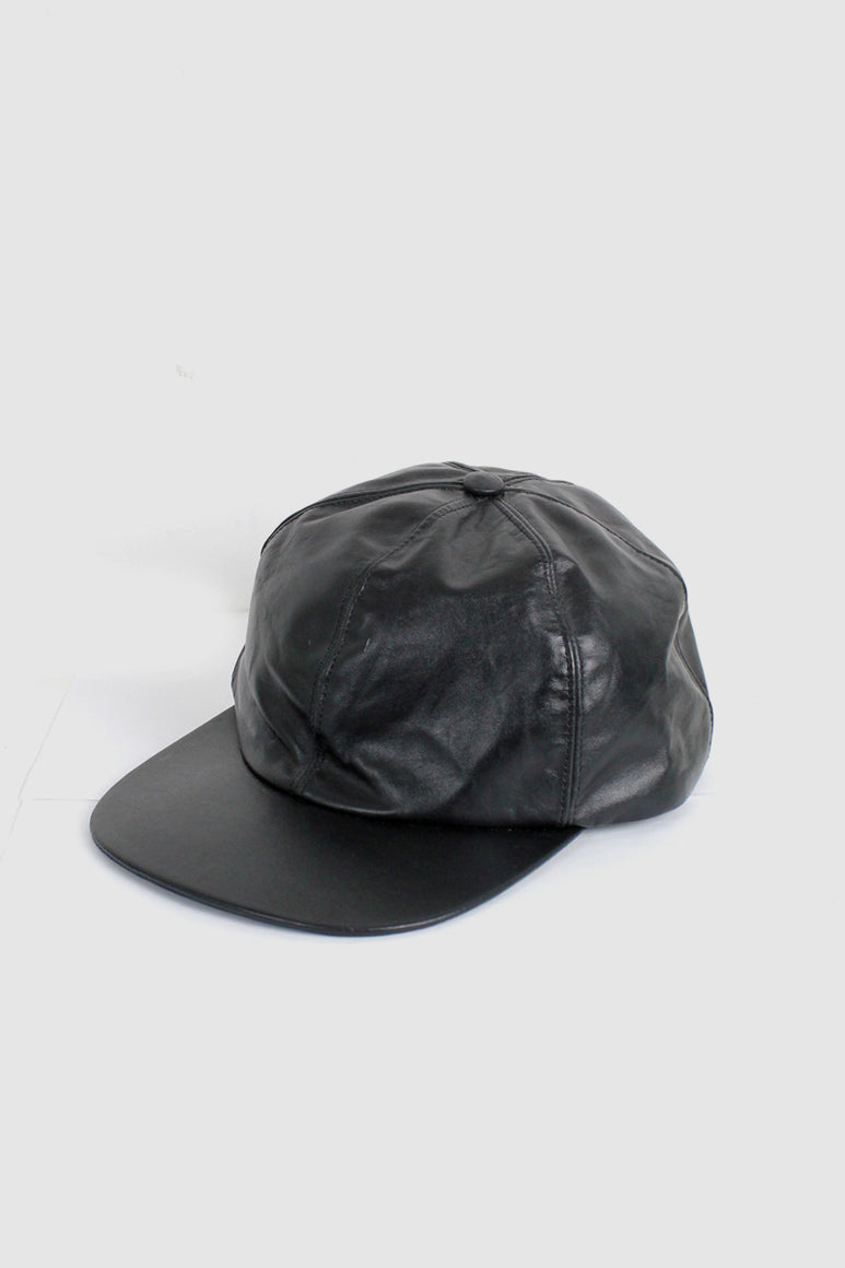 MADE IN USA LEATHER CAP / BLACK [SIZE: XL USED]