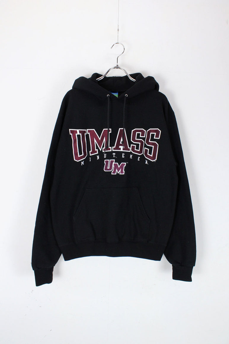 90'S UMASS PULLOVER SWEAT HOODIE / BLACK [SIZE: S USED]
