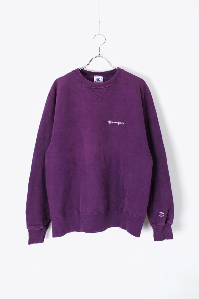 MADE IN MEXICO 90'S ONE POINT SWEAT SHIRT / PURPLE [SIZE: M USED]