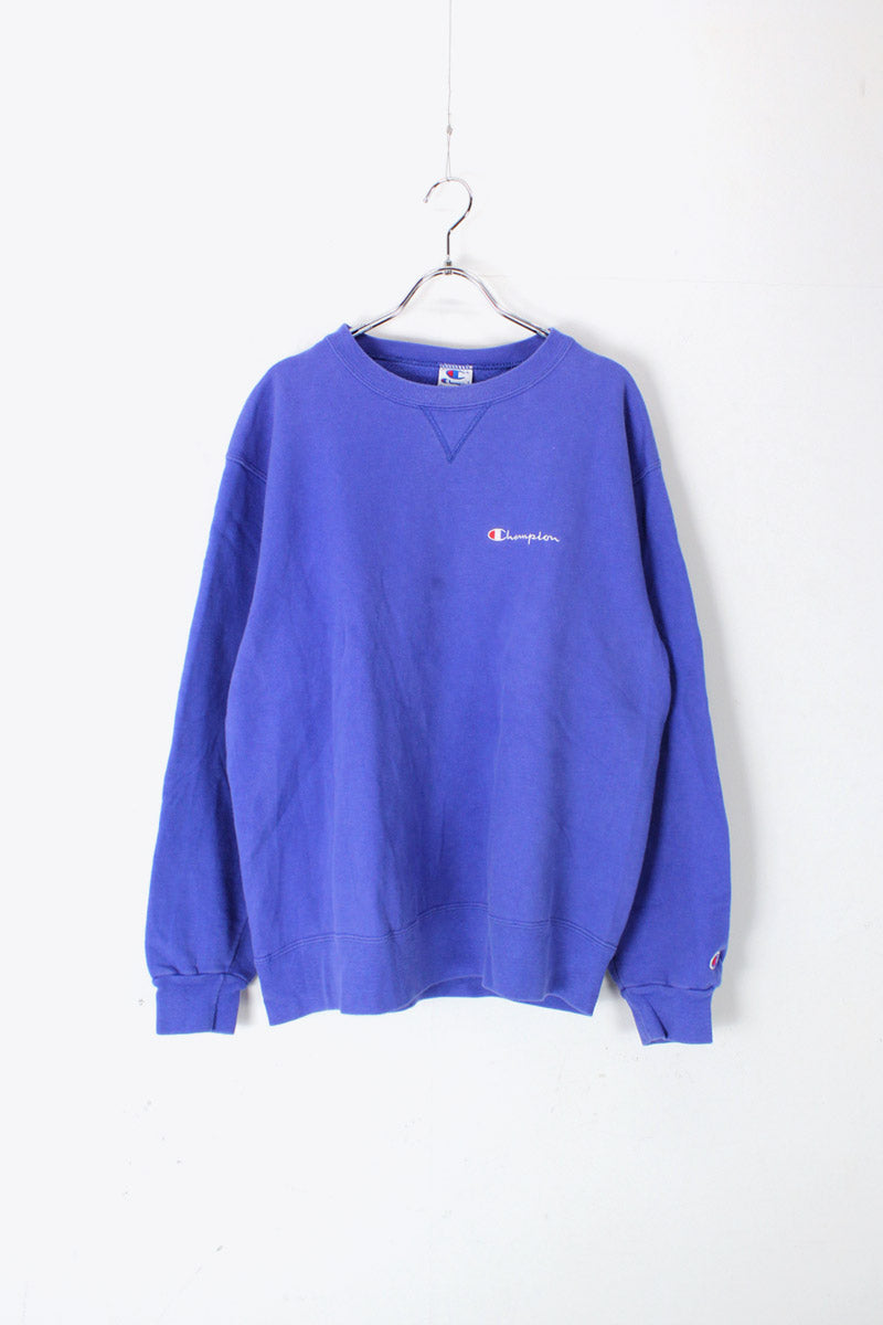MADE IN USA 90'S ONE POINT SWEAT SHIRT / BLUE [SIZE: L USED]