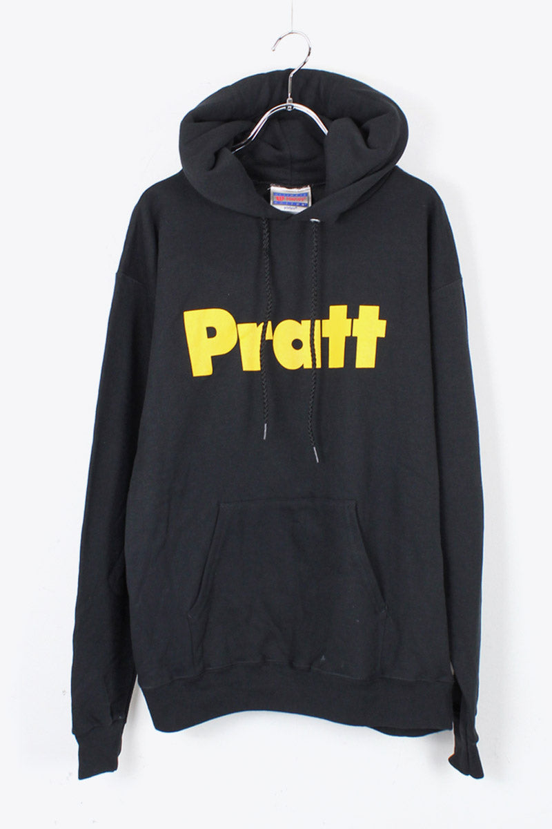 PULLOVER LOGO SWEAT HOODIE / BLACK [SIZE: S USED]