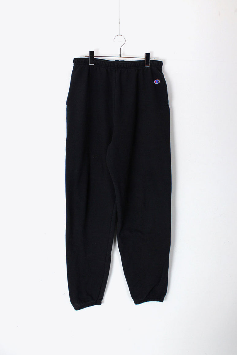 ONE POINT SWEAT PANTS / BLACK [SIZE: L USED]