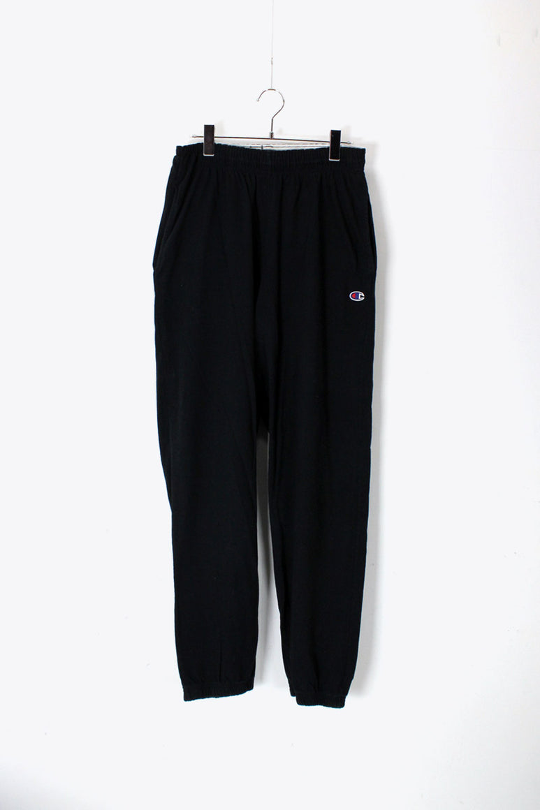 LIGHT WEIGHT ONE POINT SWEAT PANTS / BLACK [SIZE: M USED]