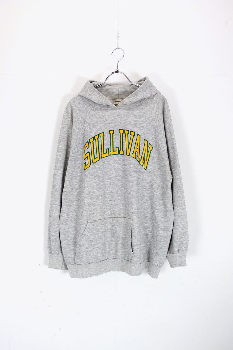 MADE IN USA 80'S SULLIVAN PULLOVER SWEAT HOODIE / GREY [SIZE: XXL USED]