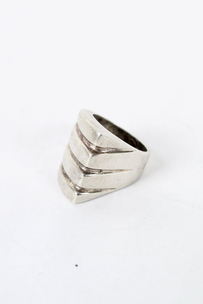 MADE IN MEXICO 925 SILVER RING [SIZE: 13号相当 USED]