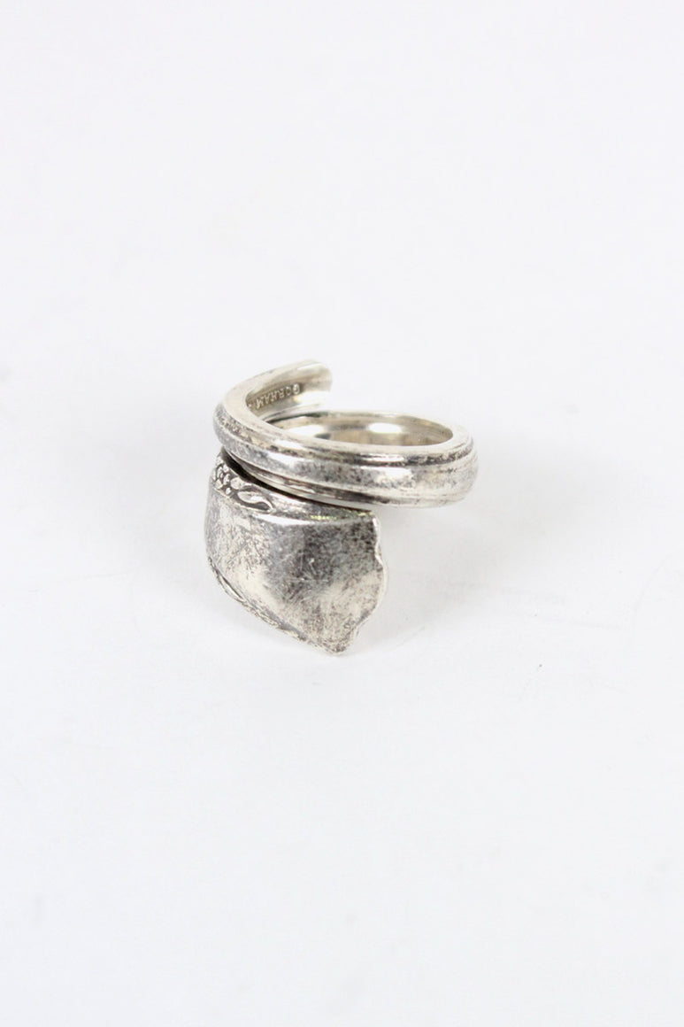 STERLING SILVER SPOON RING [SIZE: 12号相当 USED]