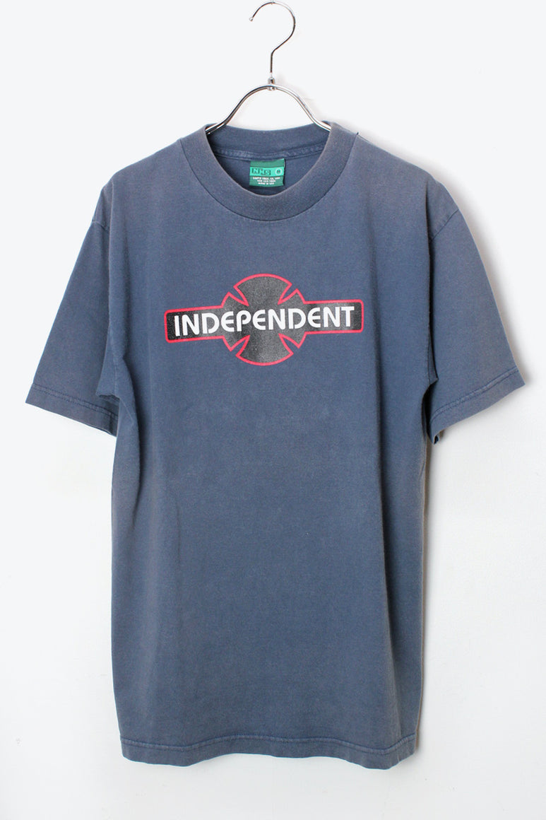 MADE IN USA 90'S INDEPENDENT LOGO T-SHIRT / NAVY [SIZE:M USED][金沢店]