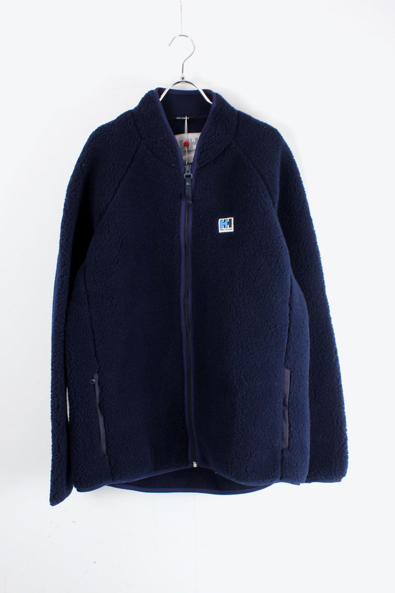 FIBER PILE FLEECE JACKET / NAVY [SIZE: L NEW]
