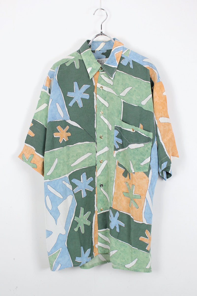 90'S S/S PATTERN SHIRT / MULTI [SIZE:M USED][金沢店]