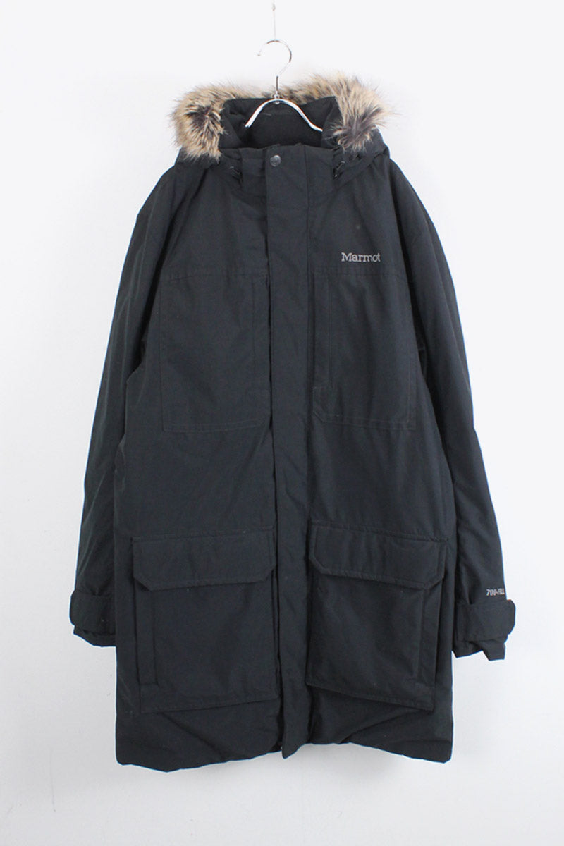 700FILL DUCK DOWN MODS COAT / BLACK [SIZE: L USED]