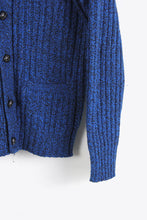 画像をギャラリービューアに読み込む, MADE IN USA 70'S WOOL NYLON MIX CARDIGAN / BLUE MELANGE [SIZE: L USED]