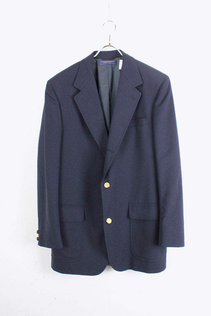 MADE IN USA 80'S TAILORED JACKET / NAVY [SIZE: L相当 USED]
