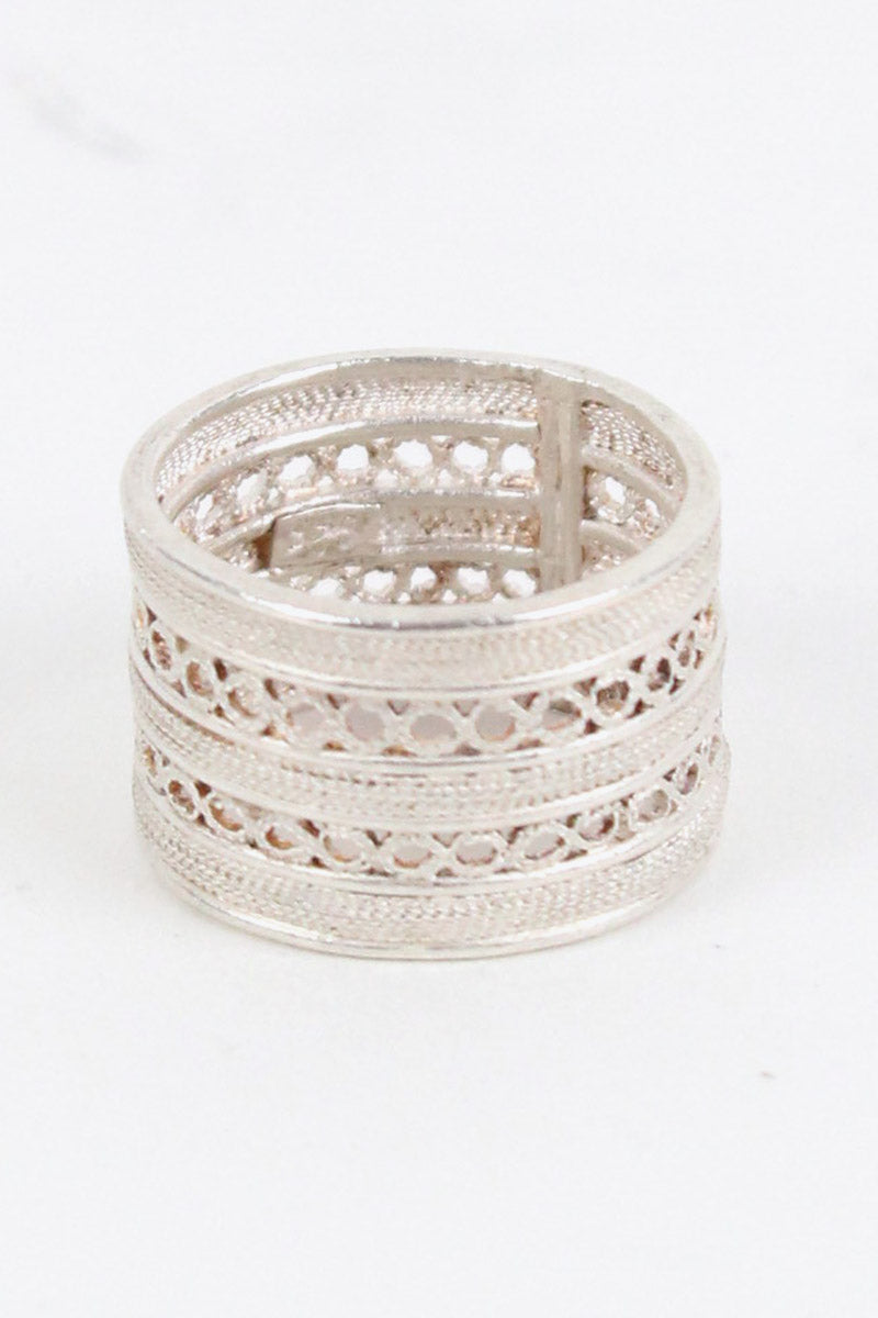 925 SILVER RING/SILVER [SIZE:10号相当 USED][金沢店]
