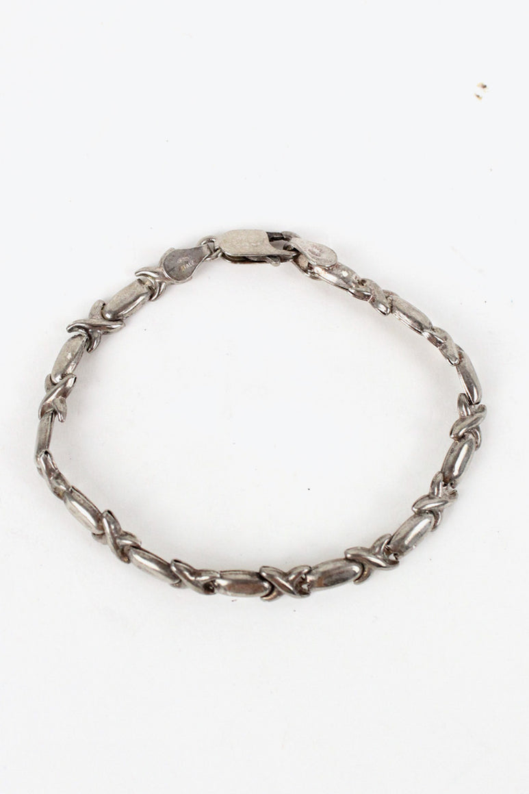 MADE IN ITALY 925 SILVER BRACELET [SIZE: O/S USED][金沢店]