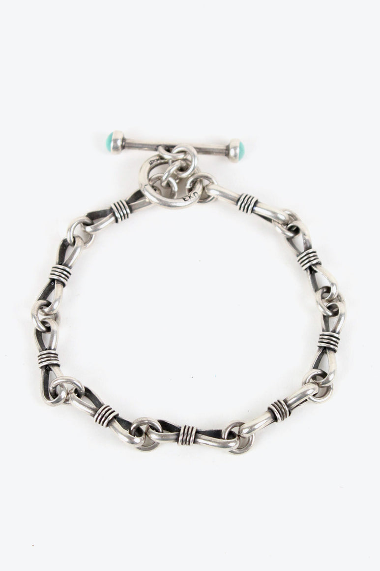 STERLING SILVER BRACELET W/TURQUOISE [SIZE: ONE SIZE USED][金沢店]