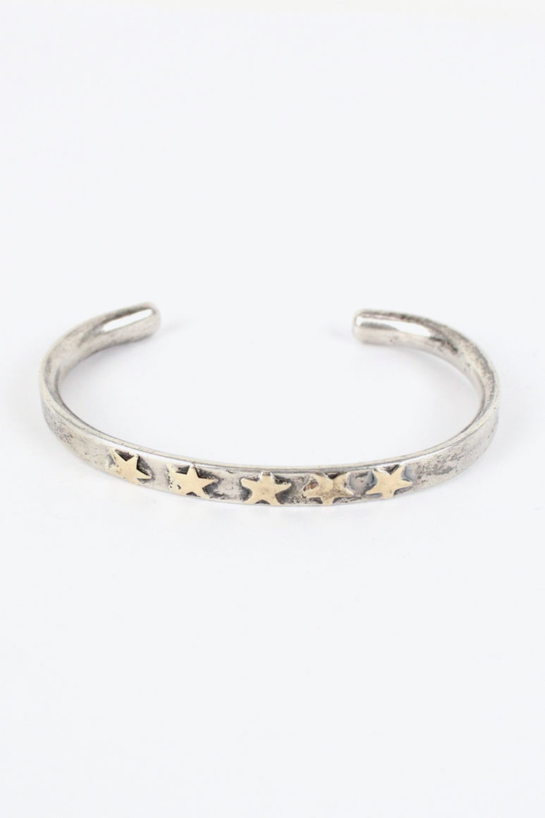 SILVER BANGLE W/14K GOLD [SIZE: ONE SIZE USED][金沢店]