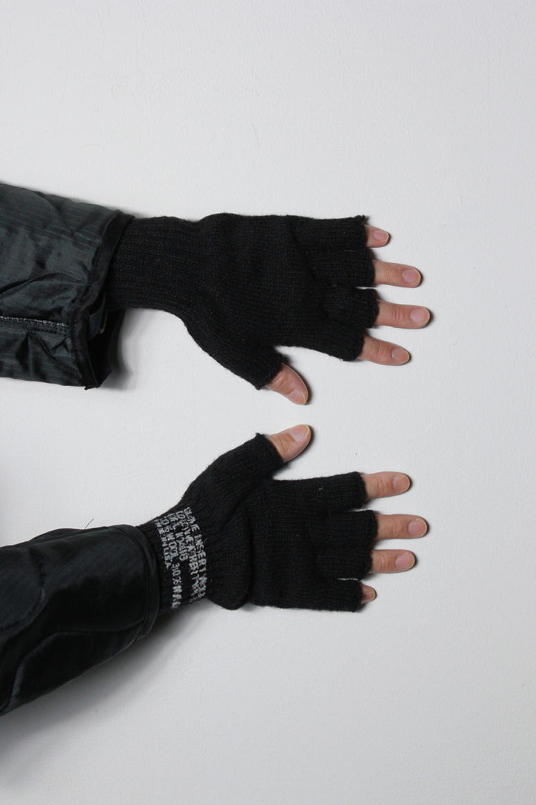 GI WOOL FINGERLESS GLOVE / BLACK [NEW]