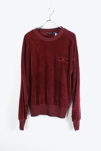 VELOUR SWEAT SHIRT / WINE RED [SIZE: L USED]