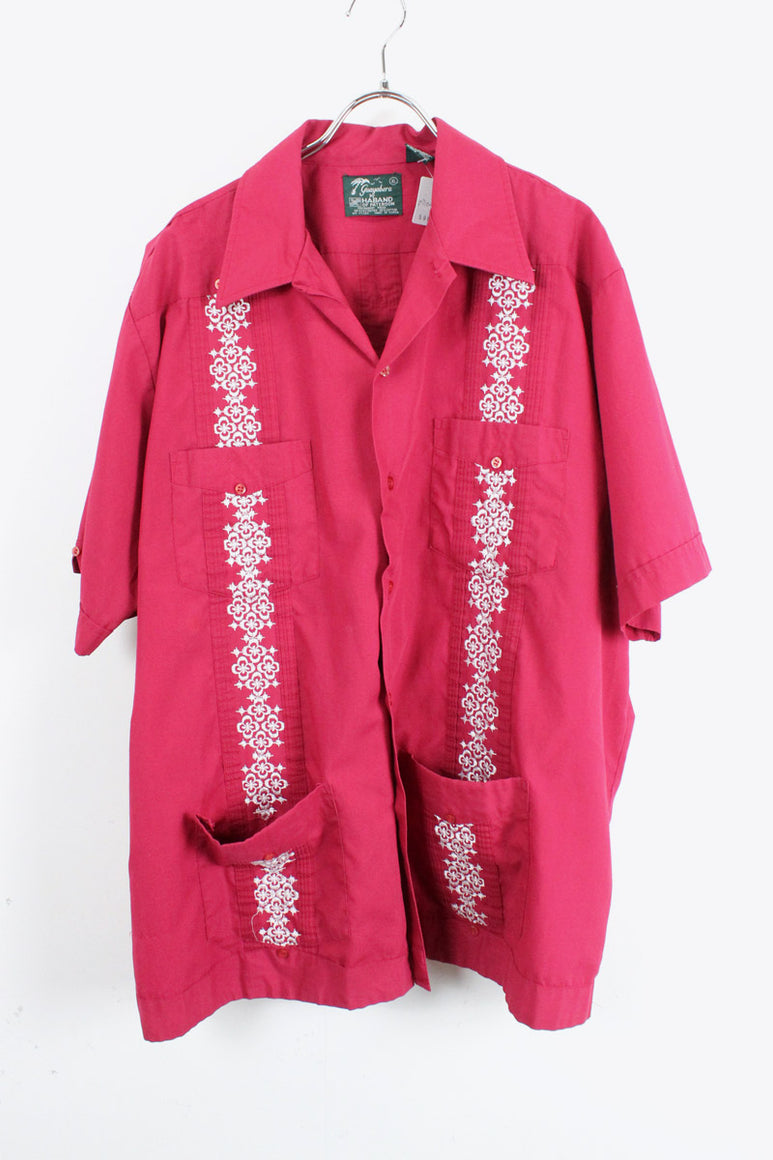 90'S CUBA SHIRT / WINE RED [SIZE:XL USED][金沢店]