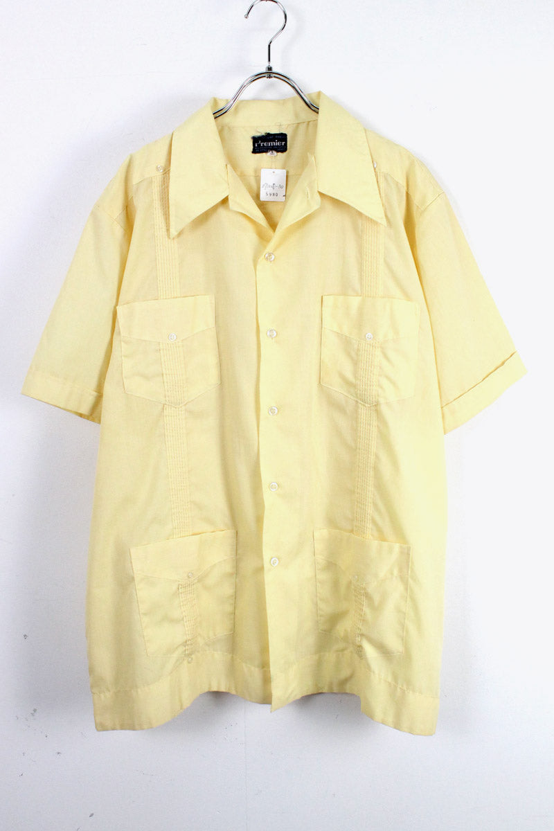 90'S CUBA SHIRT / YELLOW [SIZE:XL USED][金沢店]