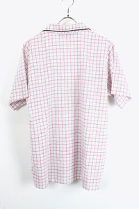 MADE IN USA 90'S S/S PJ CHECK SHIRT / WHITE / RED [SIZE:M USED][金沢店]