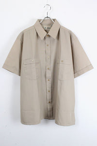 90'S S/S POLYESTER SHIRT / BEIGE [SIZE:L DEAD STOCK][金沢店]