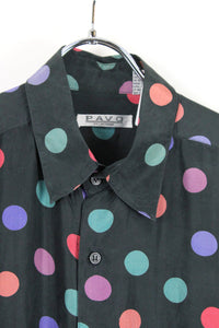 90'S S/S SILK SHIRT / BLACK/MULTI [SIZE:M USED][金沢店]