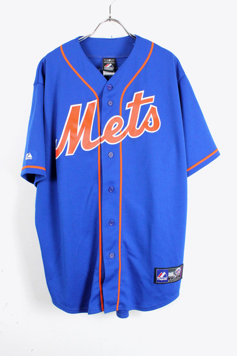 NY METS BASEBALL SHIRT USA企画品 33 / BLUE [SIZE:L USED][金沢店]