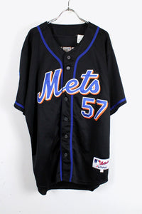 NY METS BASEBALL SHIRT USA企画品 57 / BLACK [SIZE:50 USED][金沢店]
