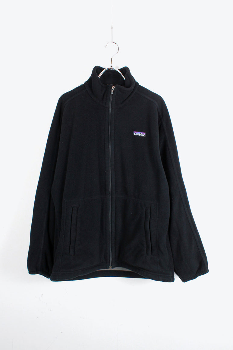 ZIP UP FLEECE JACKET / BLACK [SIZE: M USED]