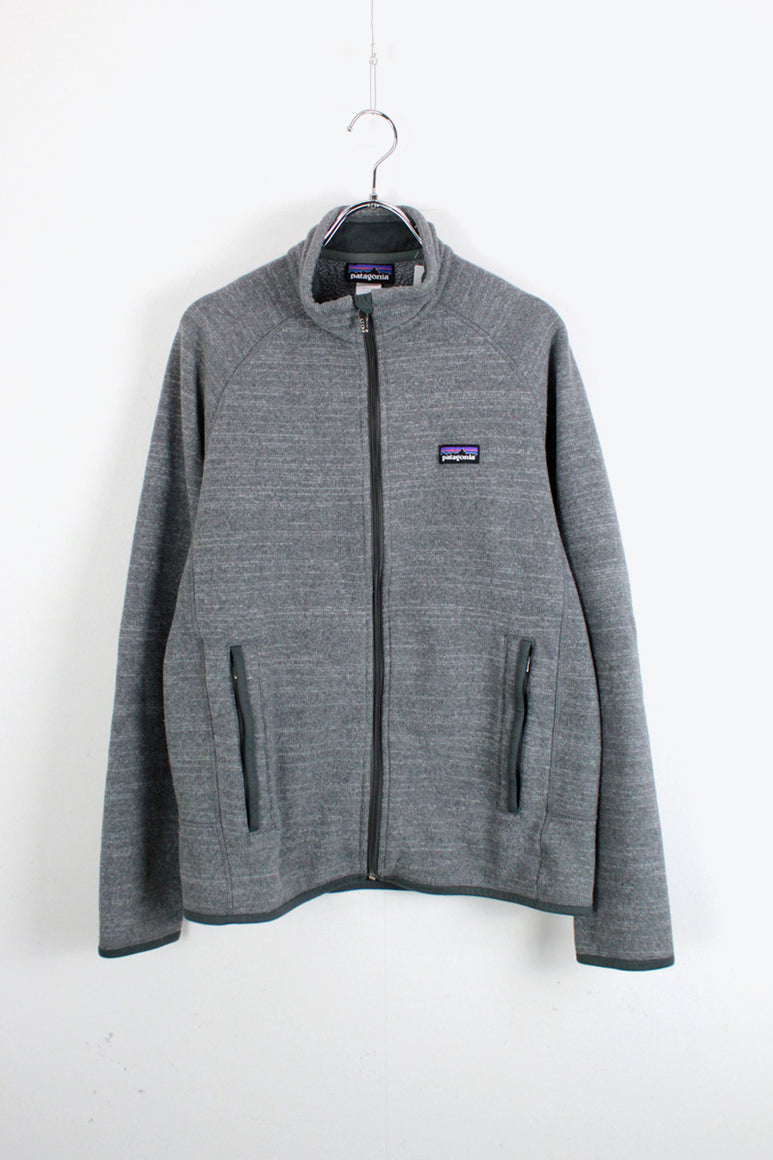 ZIP UP FLEECE JACKET / GRAY [SIZE: S USED]