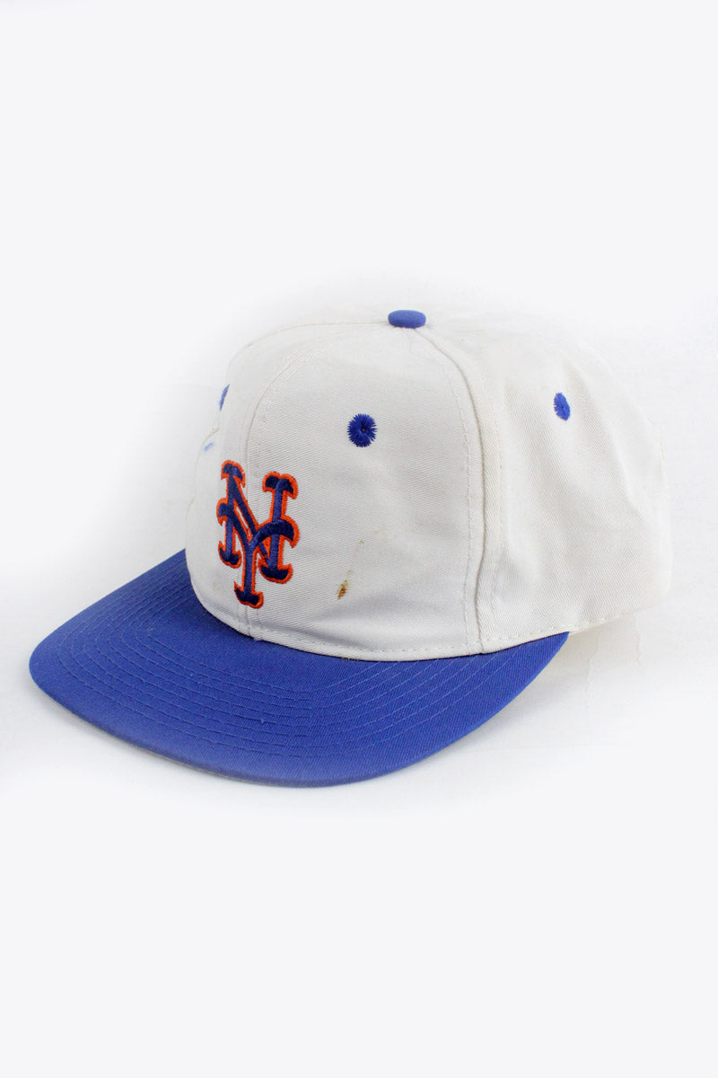 90'S NY METS SNAP BACK BASEBALL / WHITE / BLUE [SIZE: ONE SIZE USED][金沢店]