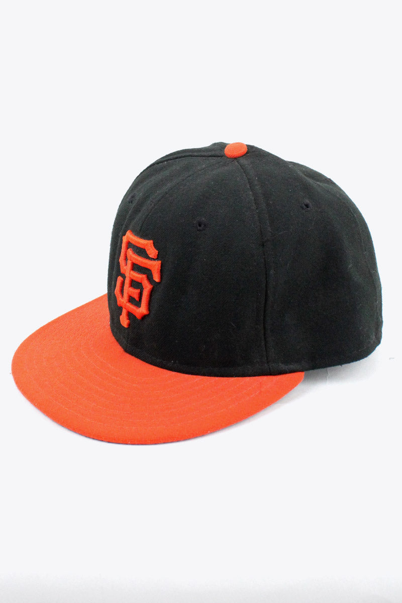 MADE IN USA SF GIANTS BASEBALL CAP / BLACK/ORANGE [SIZE:7 3/8 USED][金沢店]