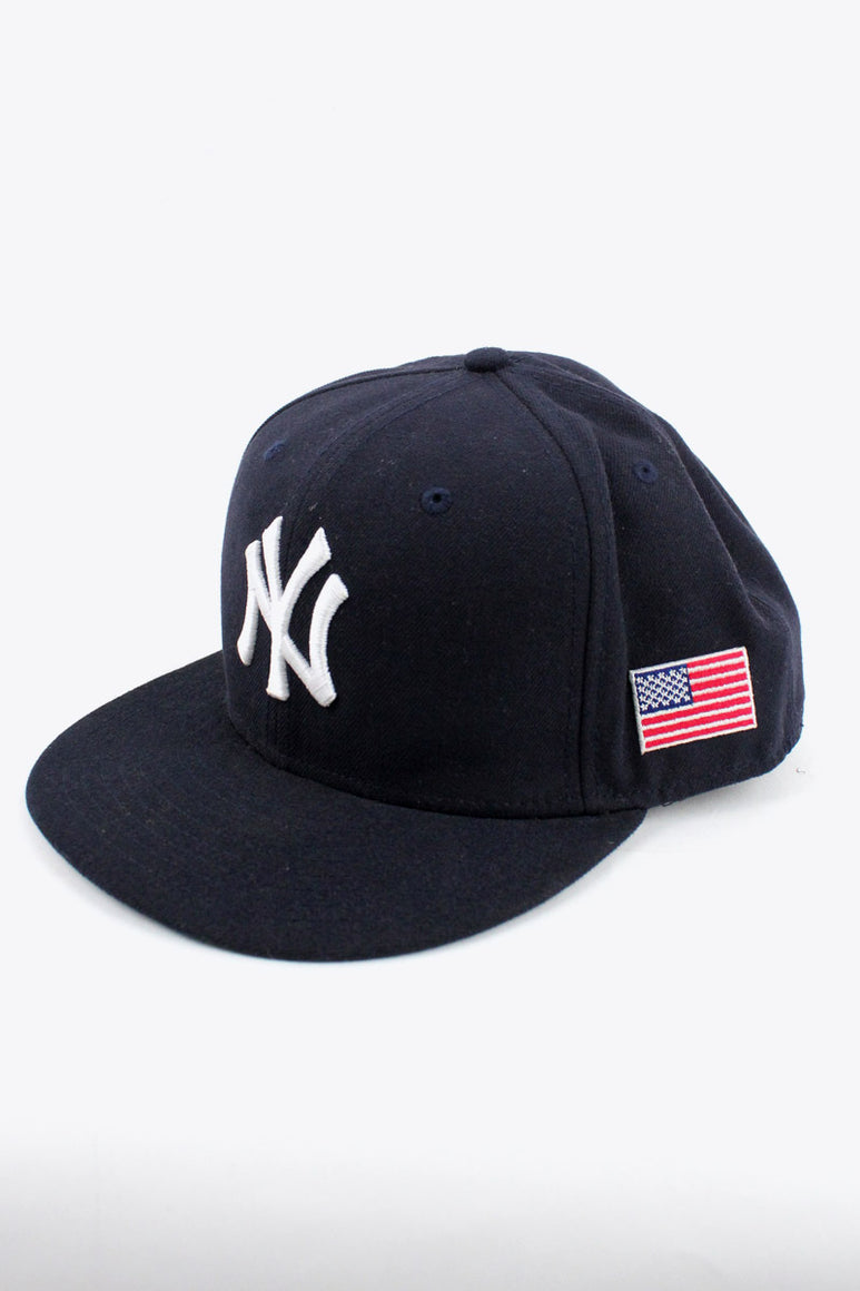 NY YANKEES BASEBALL CAP / NAVY [SIZE:59 1/2 USED][金沢店]