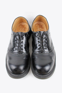 MADE IN ENGLAND LEATHER SADDLE SHOES / BLACK[SIZE: US8.5 (26.5cm相当) USED][金沢店]