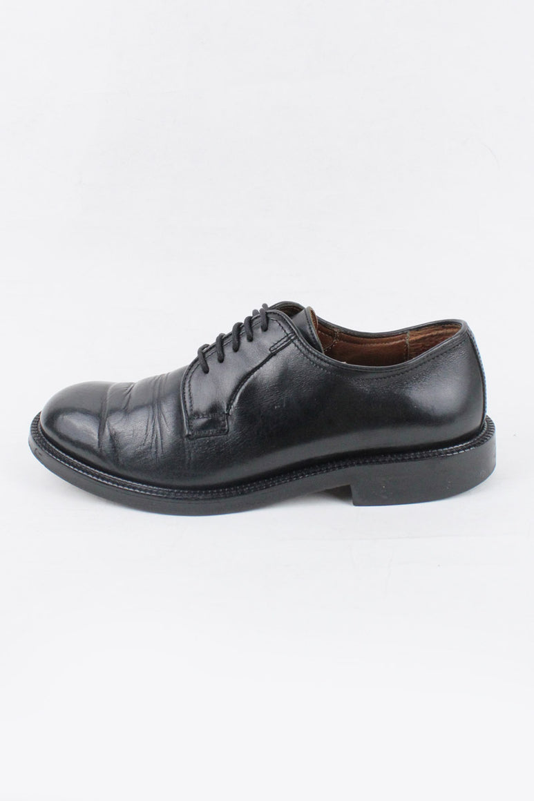MADE IN ITALY PLAIN TOE LEATHER SHOES / BLACK [SIZE: US9D (27cm相当) USED][金沢店]