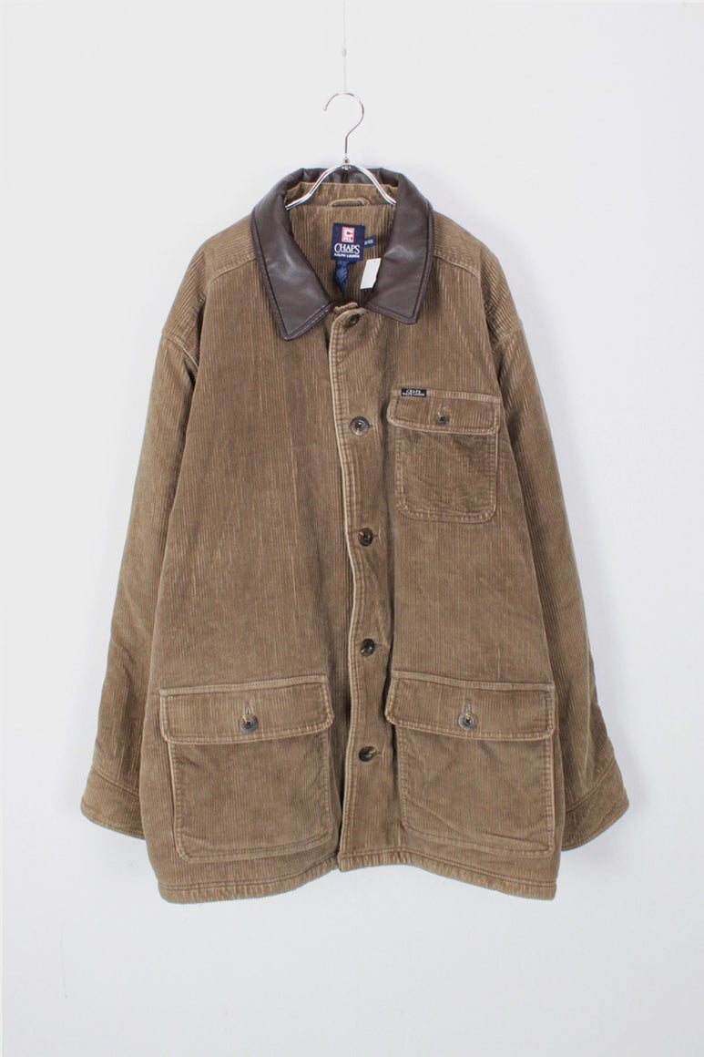 CORDUROY INSULATION JACKET / BROWN [SIZE: XXL USED]