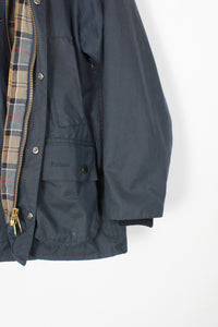 MADE IN ENGLAND BEDALE WAXED COTTON JACKET / NAVY [SIZE: C34(M相当) USED]