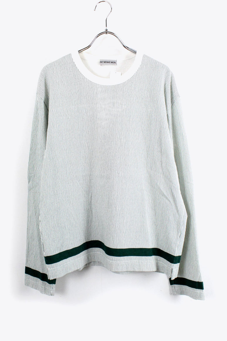 L/S TEE SHIRT / GREEN STRIPE [SIZE: M USED][金沢店]