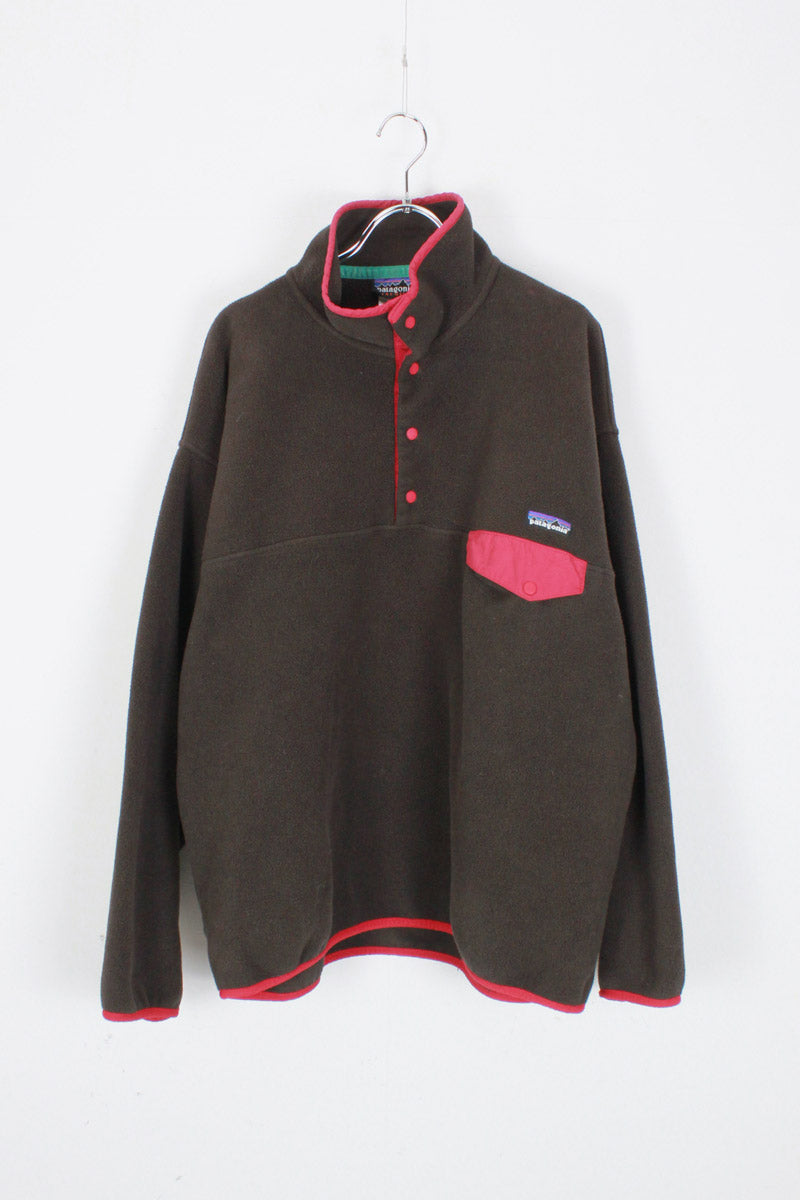 SNAP T FLEECE JACKET / BROWN [SIZE: L USED]
