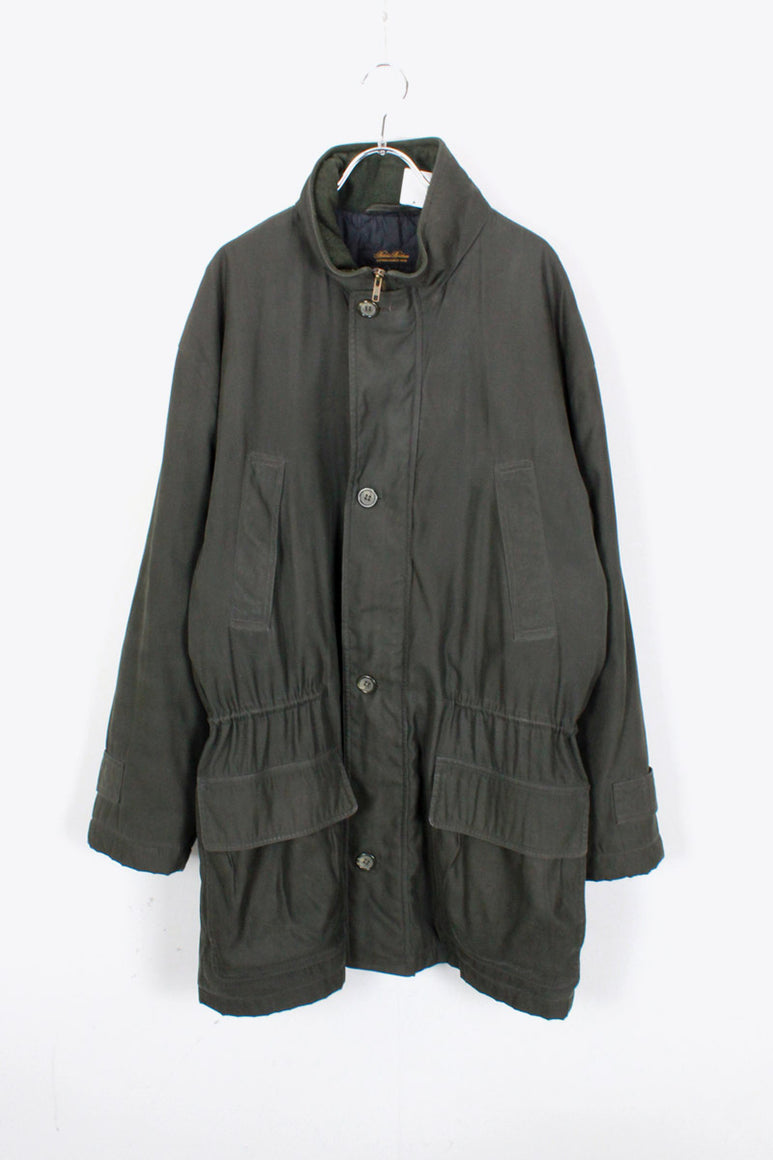 ZIP INSULATION JACKET / DARK GREEN [SIZE: M USED]