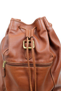 MADE IN USA LEATHER BACKPACK / BROWN [SIZE: ONE SIZE USED][金沢店]
