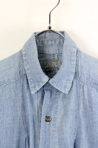 90'S L/S SHIRT / DENIM [SIZE: S相当 USED][金沢店]