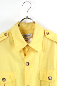 MADE IN USA 90'S SAFARI JACKET / YELLOW [SIZE: 42 USED] [金沢店]