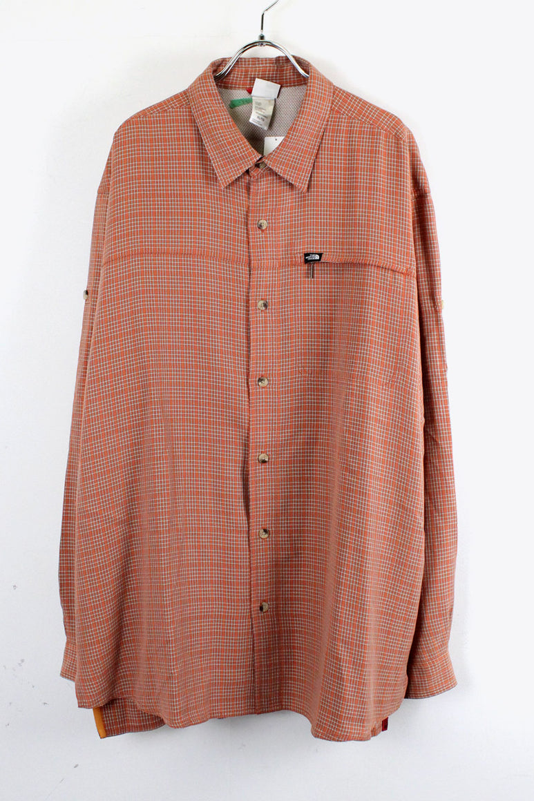 L/S CHECK SHIRT / ORANGE CHECK [SIZE: XL USED][金沢店]