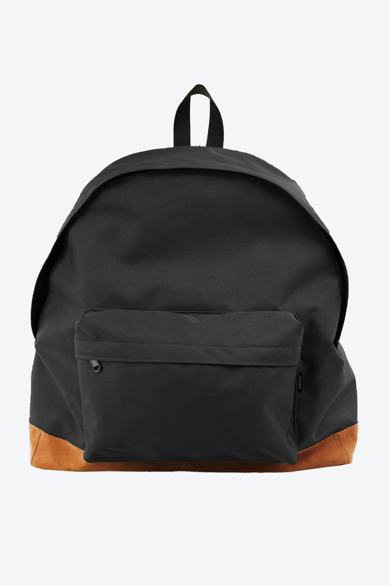 BOTTOM SUEDE BACKPACK / BLACK