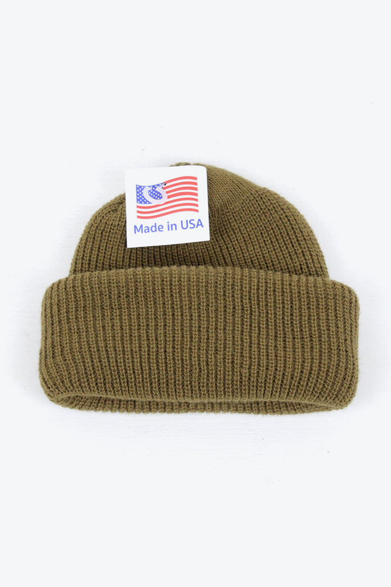 MADE IN USA ACRTLIC WATCH KNIT CAP / COYOTE BROWN