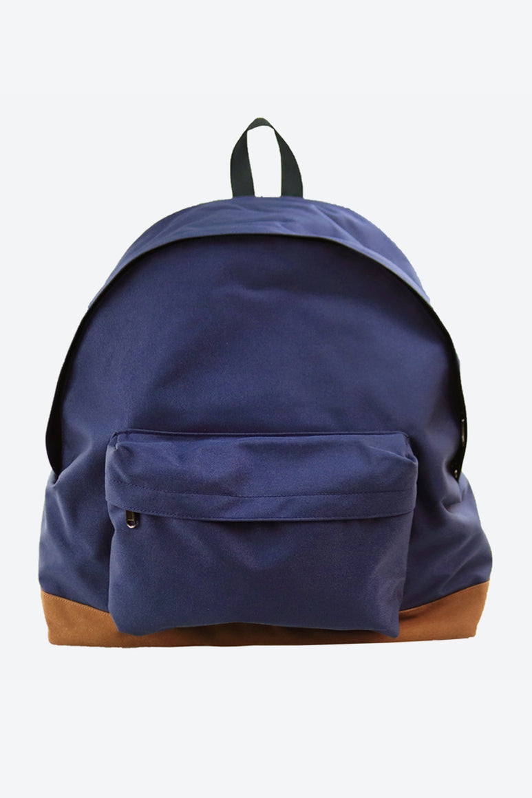 BOTTOM SUEDE BACKPACK / NAVY