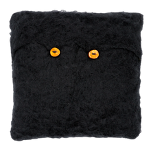 Load image into Gallery viewer, Hand Knitted Mohair Throw Pillow - Black