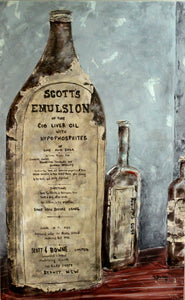 "'Cod Liver Oil' 30""x48""x1.5"" acrylic on canvas.  Price for 3 month rental."
